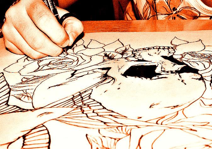 Разработка эскиза будущих татуировок